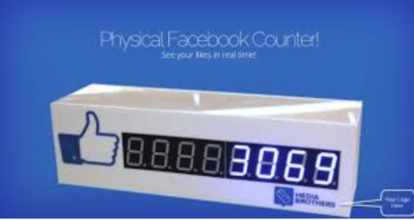 physical facebook followers counter